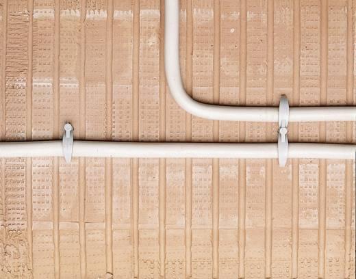Kabelhouder voor steekmontage in muur, halogeenvrij, siliconenvrij, UV-stabiel Lichtgrijs 743131 743131 1 stuks