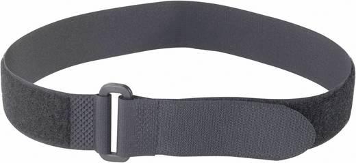 Fastech Klittenband met riem Haak- en lusdeel (l x b) 600 mm x 30 mm Zwart 1 stuks