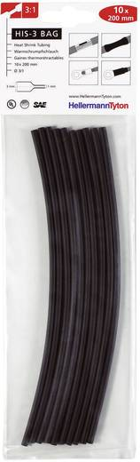 Krimpkous assortiment Zwart 3 mm Krimpverhouding:3:1 HellermannTyton 308-30310 HIS-3-BAG-3/1 10 stuks