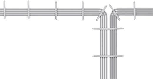 Kabelhouder voor steekmontage in muur, halogeenvrij, siliconenvrij, UV-stabiel Lichtgrijs 700920 700920 1 stuks