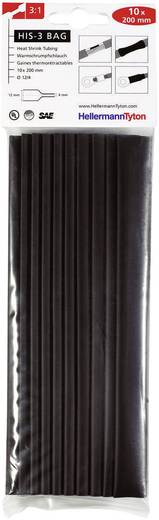 Krimpkous assortiment Zwart 12 mm Krimpverhouding:3:1 HellermannTyton 308-31210 HIS-3-BAG-12/4 10 stuks