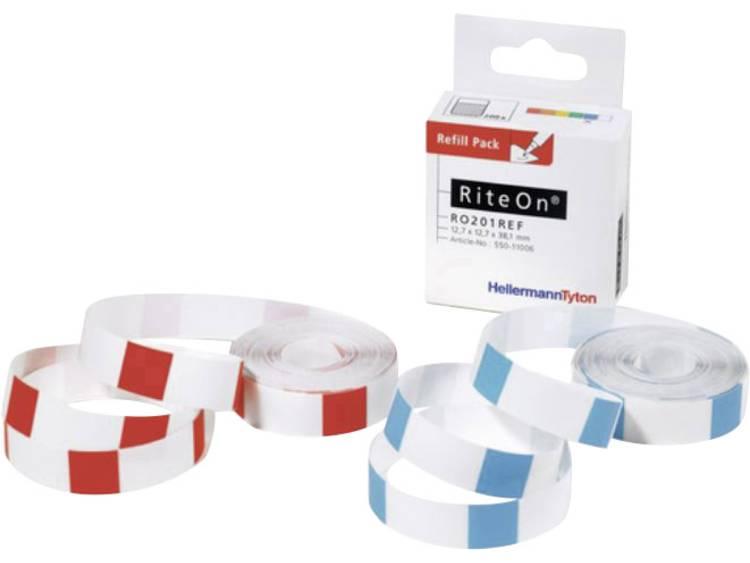 Kabeletiket RiteOn 12.70 x 19.10 mm HellermannTyton 550-11401 RO202REF-1401-WH