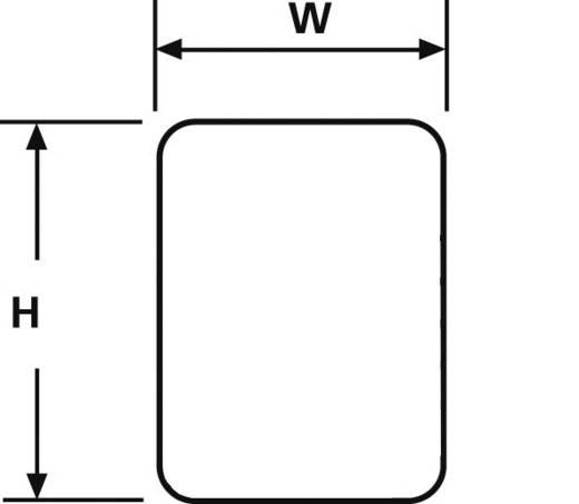 Kabeletiket Helasign 15 x 9 mm Kleur van het label: Geel<br