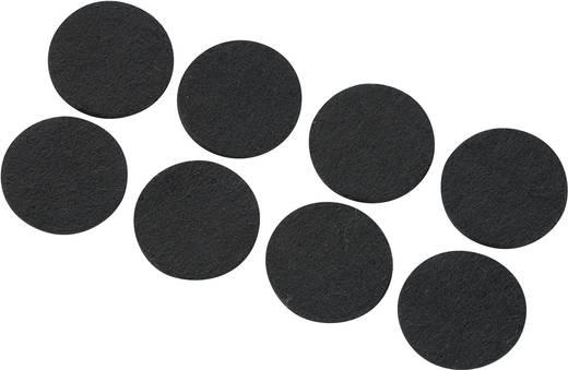Viltdoppen Zelfklevend, Rond Zwart (Ø x h) 25 mm x 3 mm 8 stuks