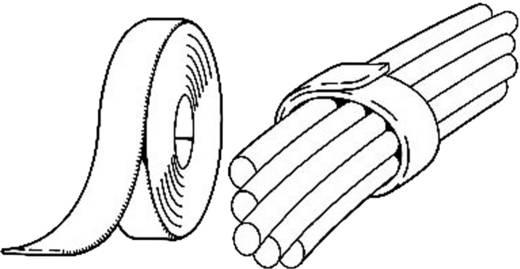 Fastech Klittenband om te bundelen Haak- en lusdeel (l x b) 1000 mm x 20 mm Zwart 1 m