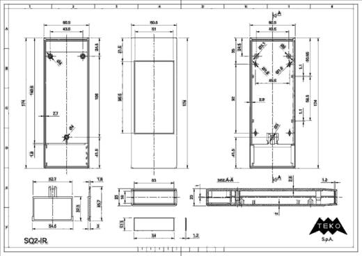 TEKO SQ2 Handbehuizing 175 x 61 x 24 Polystereen (EPS) Lichtgrijs 1 stuks