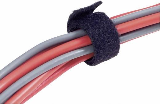 Fastech Klittenband om te bundelen Haak- en lusdeel (l x b) 5000 mm x 20 mm Zwart 5 m
