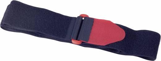 Fastech Klittenband met riem Haak- en lusdeel (l x b) 600 mm x 38 mm Zwart, Rood 2 stuks
