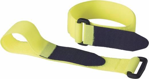 Fastech Klittenband met riem Haak- en lusdeel (l x b) 290 mm x 25 mm Geel 2 stuks