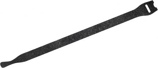 Fastech Klittenband kabelbinders om te bundelen Haak- en lusdeel (l x b) 200 mm x 13 mm Zwart 10 stuks