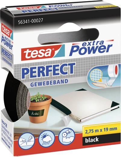 tesa tesa Extra Power Textieltape Zwart (l x b) 2.75 m x 19 mm Rubber Inhoud: 1 rollen