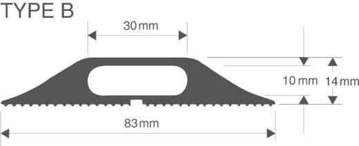 Kabelbrug Rubber Zwart Aantal kanalen: 1 3000 mm Vulcascot Inhoud: 1 stuks