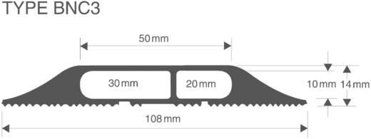 Kabelbrug Rubber Zwart Aantal kanalen: 3 4500 mm Vulcascot Inhoud: 1 stuks