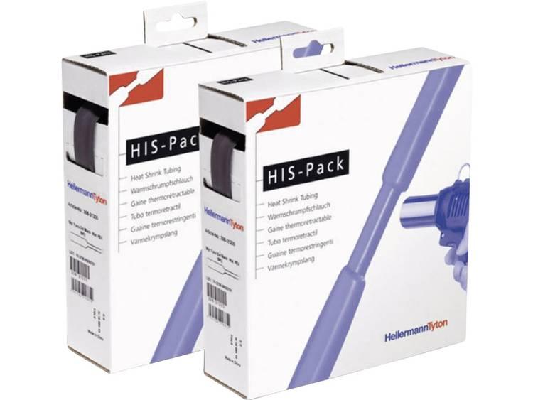 HellermannTyton 300-30640 Krimpkous zonder lijm Zwart 6.40 mm Krimpverhouding:2:1 5 m
