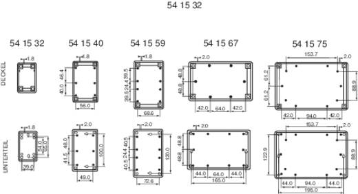 Axxatronic GEH.-SERIE 70 - 220X145X50 Tafelbehuizing 220 x 145 x 50 ABS Grijs-wit (RAL 7035) 1 stuks