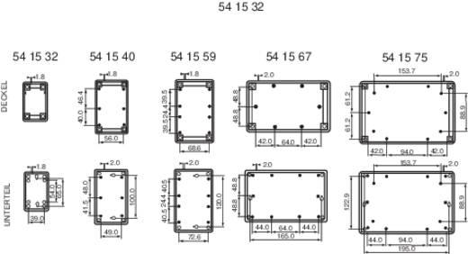 Axxatronic GEH.-SERIE 70 - 90X55X25 Tafelbehuizing 90 x 55 x 25 ABS Grijs-wit (RAL 7035) 1 stuks