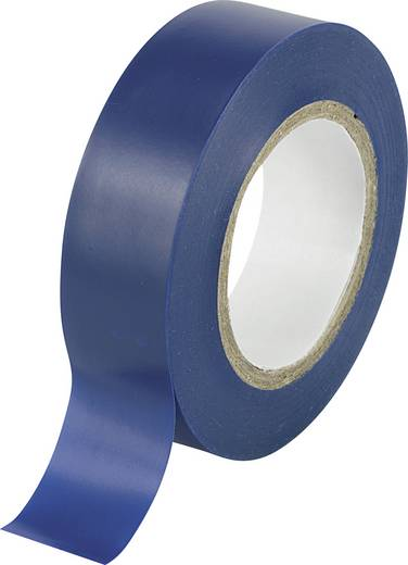 Conrad Components Isolatietape Blauw (l x b) 10 m x 19 mm Rubber Inhoud: 1 rollen