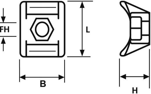 Bevestigingssokkel Schroefbaar Transparant HellermannTyton 151-25219 NY3256-N66-NA-M1 1 stuks