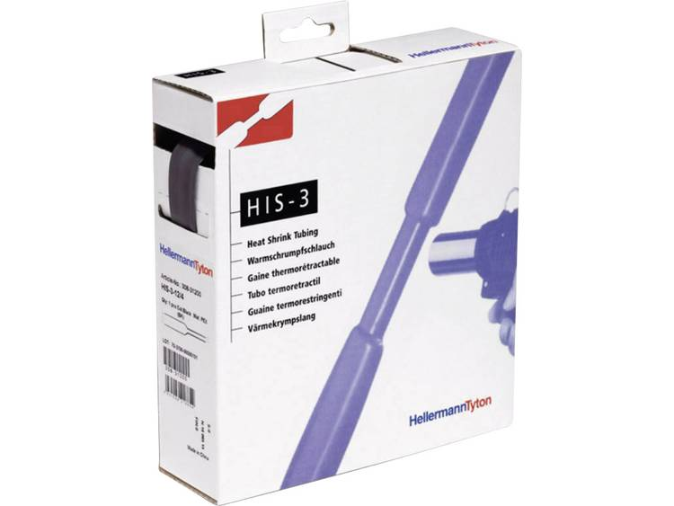 HellermannTyton 308-31800 Krimpkous zonder lijm Zwart 18 mm Krimpverhouding:3:1 4 m