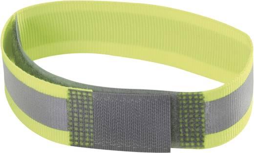 Fastech Klittenband met reflector, om op te naaien Haak- en lusdeel (l x b) 380 mm x 25 mm Geel (fluorescerend) 1 stuks