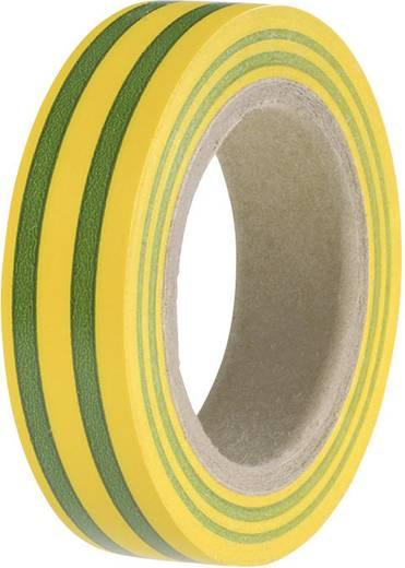 HellermannTyton HelaTape Flex 15 Isolatietape Groen-geel (l x b) 10 m x 15 mm Inhoud: 1 rollen