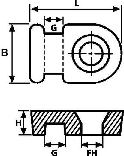 HellermannTyton 151-28119 MB1-N66-NA-C1 Bevestigingssokkel Schroefbaar Naturel 1 stuks