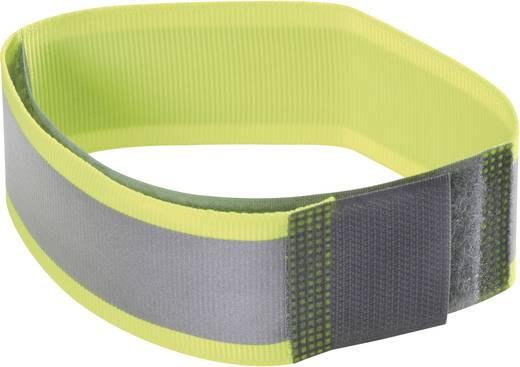 Fastech Klittenband met reflector, om op te naaien Haak- en lusdeel (l x b) 430 mm x 25 mm Neon-geel 1 stuks