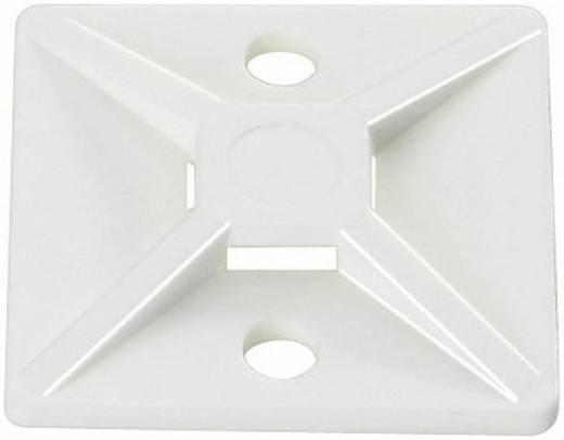 Bevestigingssokkel Zelfklevend, Schroefbaar halogeenvrij, UV-stabiel, weerbestendig Transparant HellermannTyton 151-284