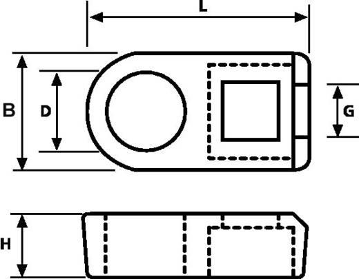 HellermannTyton 151-61119 FH18-N66-NA-D1 Bevestigingssokkel Schroefbaar Naturel 1 stuks