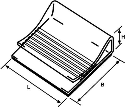 Bevestigingssokkel met acrylaatlijm Wit HellermannTyton 154-01119 130100-PVC-WH-D1 1 stuks