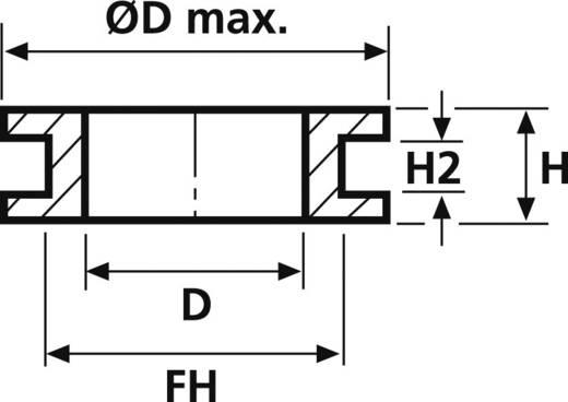 Kabeldoorvoering Klem-Ø (max.) 8 mm PVC Zwart HellermannTyton HV1304-PVC-BK-M1 1 stuks