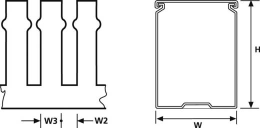 HellermannTyton 185-40188 Kabelgoot Flexgoot (l x b x h) 2000 x 37.5 x 75 mm 32 m Grijs (RAL 7030)