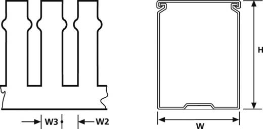 HellermannTyton 185-40238 Kabelgoot Flexgoot (l x b x h) 2000 x 100 x 50 mm 20 m Grijs (RAL 7030)