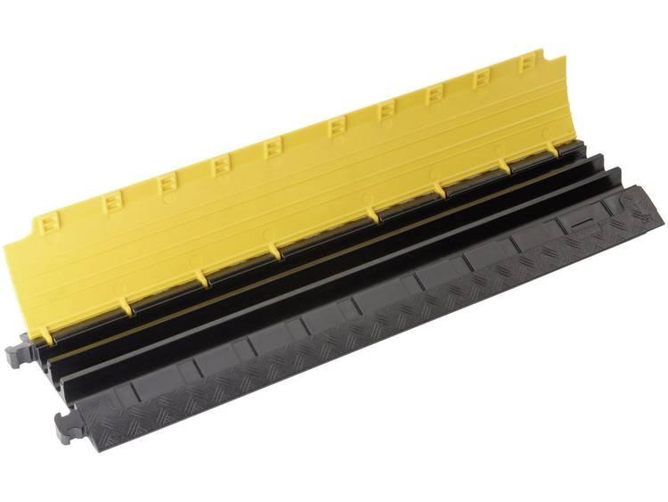 Adam Hall Kabelbrug Polyurethaan Zwart, Geel Aantal kanalen: 3 1000 mm Inhoud: 1 stuks