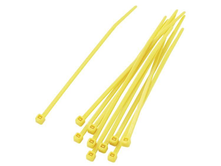 TRU COMPONENTS 1592832 TC-PBR-100-4YW203 Assortiment kabelbinders 100 mm Geel 100 stuks