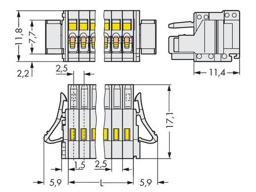 WAGO 733-104/037-000 Busbehuizing-kabel 733 Totaal aantal polen 4 Rastermaat: 2.50 mm 100 stuks