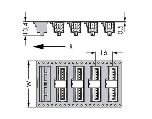 WAGO 733-335/105-604/997-446 Male header (standaard) 2092 Totaal aantal polen 5 Rastermaat: 2.50 mm 290 stuks