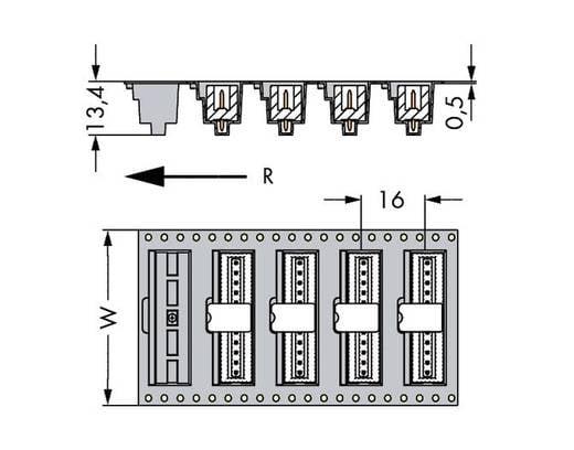 WAGO 733-337/105-604/997-446 Male header (standaard) 2092 Totaal aantal polen 7 Rastermaat: 2.50 mm 290 stuks