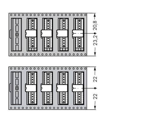 Male header (standaard) Totaal aantal polen 6 WAGO 733-336/