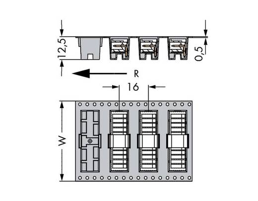 WAGO 733-366/105-604/997-406 Male header (standaard) 2092 Totaal aantal polen 6 Rastermaat: 2.50 mm 300 stuks