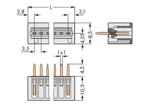 Male header (standaard) 2140 Totaal aantal polen 6 WAGO 734-136 Rastermaat: 3.50 mm 100 stuks