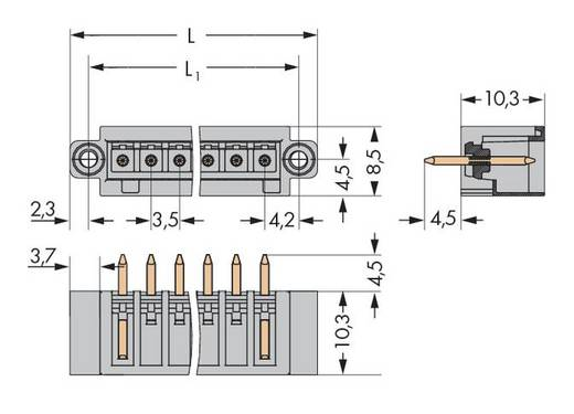 WAGO 734-140/108-000 Male header (standaard) 2140 Totaal aantal polen 10 Rastermaat: 3.50 mm 100 stuks
