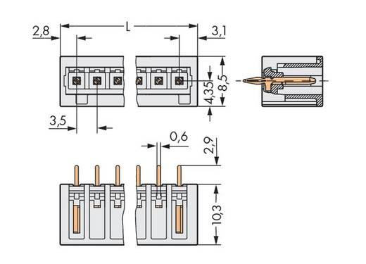 Male header (standaard) 2140 Totaal aantal polen 3 WAGO 734-133/100-000 Rastermaat: 3.50 mm 200 stuks