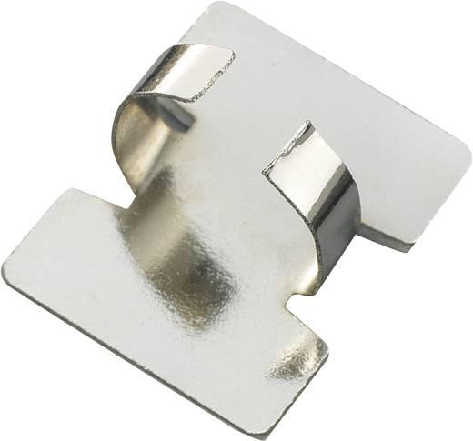 Bevestigingsklem Zelfklevend Zilver