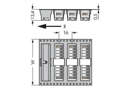 WAGO 734-174/105-604/997-408 Male header (standaard) 2140 Totaal aantal polen 14 Rastermaat: 3.50 mm 280 stuks