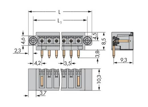 WAGO 734-172/108-000 Male header (standaard) 2140 Totaal aantal polen 12 Rastermaat: 3.50 mm 100 stuks
