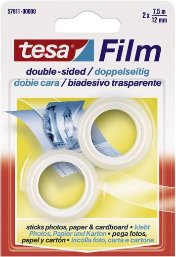 tesa tesafilm Dubbelzijdige tape Transparant (l x b) 7.5 m x 12 mm Inhoud: 2 rollen