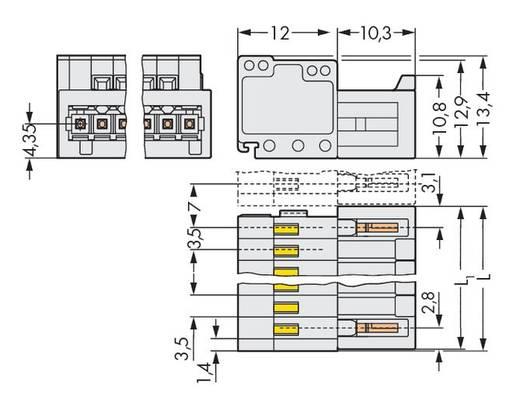 WAGO 734-306 Male header (standaard) 2140 Totaal aantal polen 6 Rastermaat: 3.50 mm 100 stuks