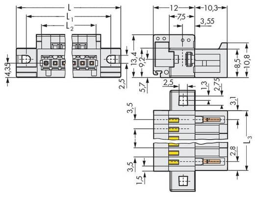 WAGO 734-306/019-000 Male header (standaard) 2140 Totaal aantal polen 6 Rastermaat: 3.50 mm 50 stuks