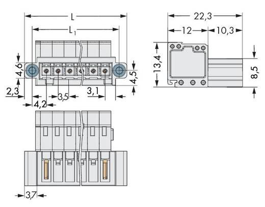 Male header (standaard) 2140 Totaal aantal polen 9 WAGO 734-309/109-000 Rastermaat: 3.50 mm 50 stuks